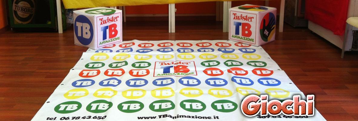 il tappeto di un twister gigante, noleggiabile grazie ai nostri servizi per feste bambini