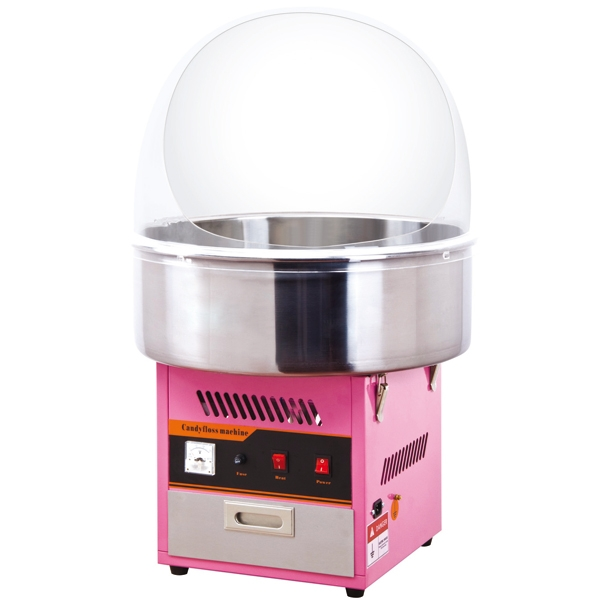 macchina per lo zucchero filato rosa, noleggiabile grazie ai nostri servizi per feste bambini